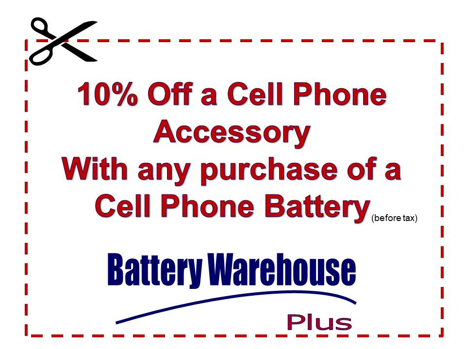 Battery Warehouse Plus Cell Phone Coupon